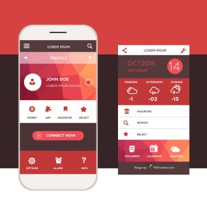 app design template mobile l