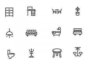 app design templates home decor furniture icons