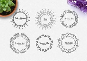 app designs templates mandala logos pack