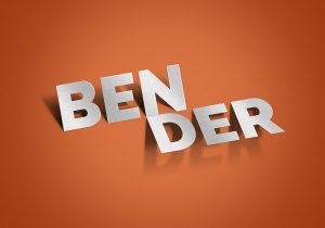 app mockup psd bender text effect psd