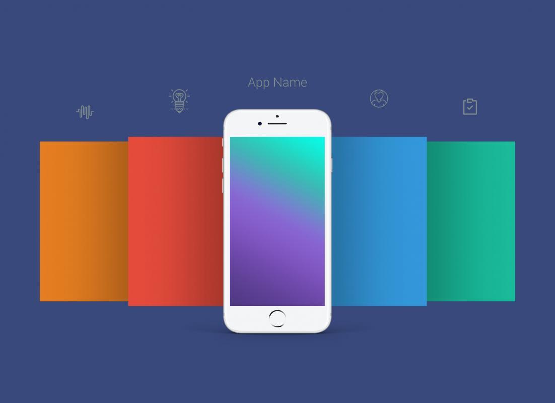 iphone app logo template - app mockup psd template business