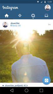 app mockup psd instagram app ui design psd