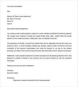 appeal letter sample appeal letter templates free sample example format download pertaining to letter of appeal sample template