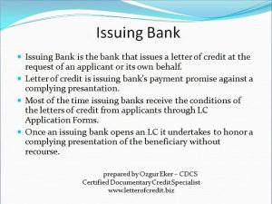 applicant letter example issuing bank letter of credit