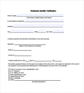 applicant letter example sample notary statement pdf