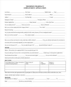 application for employment pdf pharmacy employment application