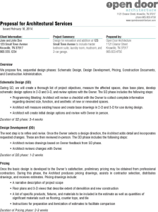application for employment template proposal for architectural services