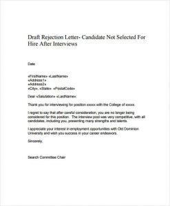 application for employment templates polite candidate