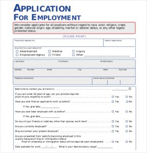 application form template walmart employement application pdf