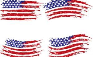 application form templates vintage american flag design vector