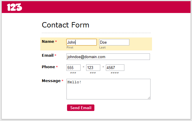 application forms template