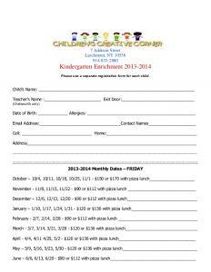 application forms template kindergarten program registration form for fridays