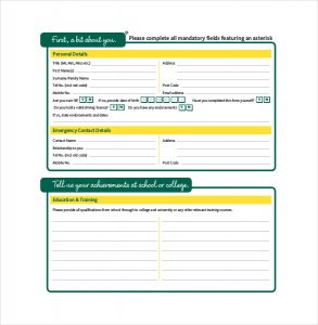 application forms templates application form template