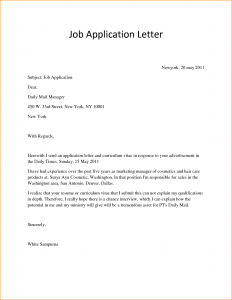 application letter sample simple application letter sample for any position