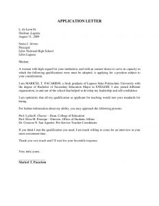 application letter template application letter