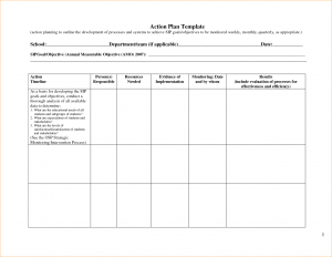 application template word action plan template