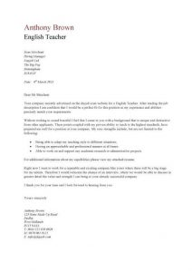application template word pic english teacher cover letter