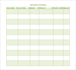 appointment schedules templates appointment scheduling template free download