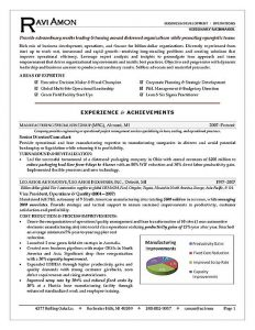 areas of expertise resume resume sample executivea