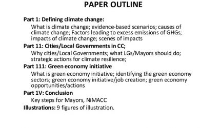 argumentative essay outline template green economy as a viable strategy for abating climate change effects in nigerian citiesefik paper