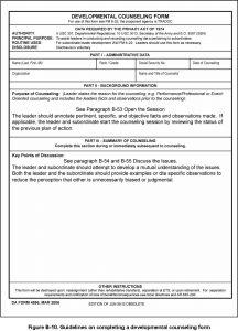 army initial counseling examples da form negative counseling examples
