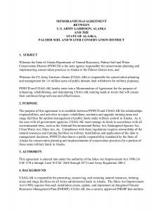 army memorandum for record army memorandum of agreement template