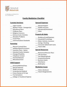 army memorandum for record divorce settlement checklist fam med checklist