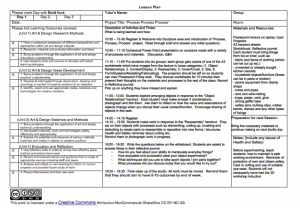 art lesson plans template screen shot at
