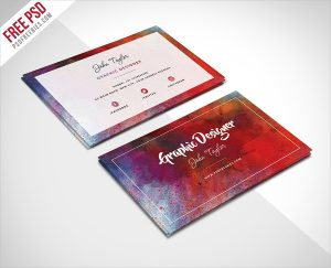 artist business card artist abstract business card template