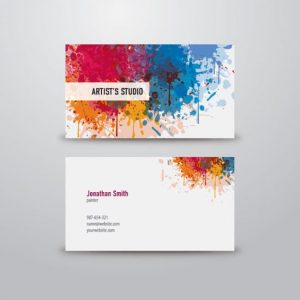 artist business card business card templates