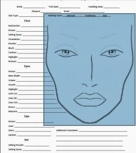 artist contract template face chart