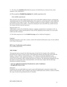 artist contract template sample request for proposals template