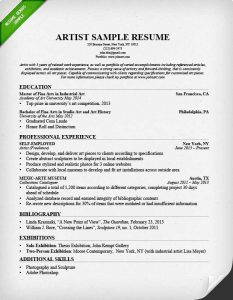 artist resume template artist resume sample