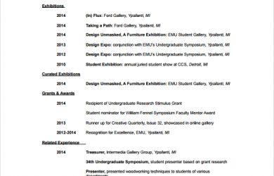 artist resume template artist resume template