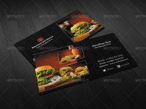 artist website templates creative restaurant business card psd template