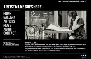 artist website templates design black