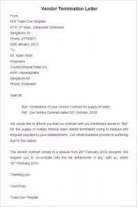 artistic business cards sample vendor termination letter download