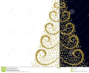 artistic business cards stylized christmas tree