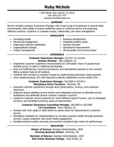 Assistant Store Manager Resume Customer Experience Retail Manager Resume  Sample Summary Highlights  Store Manager Resume Sample