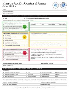 asthma action plan form ri asthma action plan english and spanish