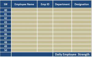 attendance sheet excel employee details