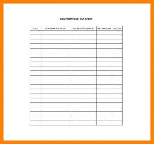 attendance sheet excel equipment sign in and out sheet equpimane sign out sheet excel template free download