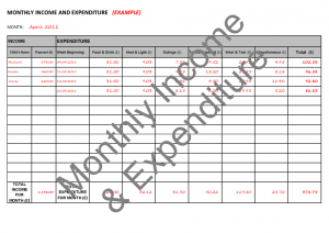 attendance sheet pdf accounts monthly income expenditure