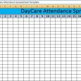 attendance tracker excel daycare attendance spreadsheet template x