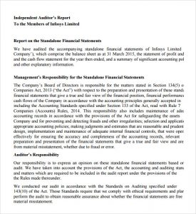 audit report example free audit report template