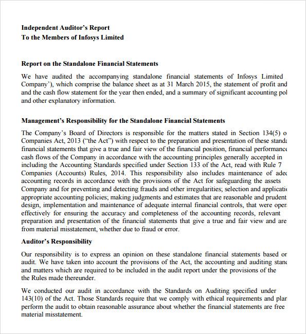 audit report example