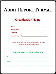 audit report example uncategorized very simple audit report format template example with organization name and department