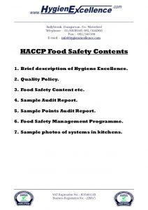 audit report sample haccp brochure