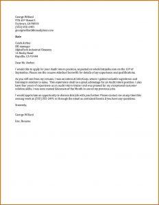 audit report sample internship cover letter sample audit internship cover letter sample
