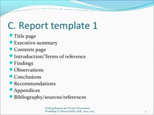 audit report sample writing reports and project documents